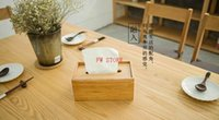 bamboo tissue holder - Tissue boxes bamboo napkin holder case Volatility removable tissue good quality