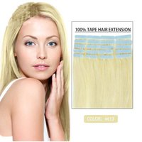 """Cheap Grimm Tape In Body Human Hair Extension Tape Hair Extension 12""""-26"""" 40PCS set 100G #613 Brazilian Indian PU Body Hair Remy Skin Weft Hair"""