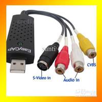 Wholesale Good quality Video TV DVD VHS Audio Capture Adapter Easycap USB DVR