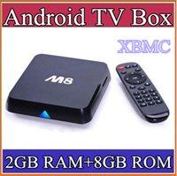 Wholesale 20pcs HOT Original M8 M8N XBMC13 Kodi14 Amlogic S802 Android TV Box GB GB Quad Core XBMC TV Box Android K G G Dual WiFi TV