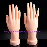 Wholesale DHL Nail tool False hand Adjustable flexible Nail beauty Fake Hand for Nail art Training Practice