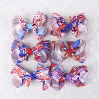 american stick flags - Hair bows quot American Flags Baby Girl Grosgrain Ribbon with clips Y