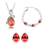 alibaba - Alibaba professional jewelry manufacturers Austrian crystal jewelry three piece Mantingfang Philippines