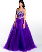 beautiful designer dresses - Beautiful Purple Puffy Sweet Sixteen Quinceanera Dresses Designers Tulle Masquerade Ball Gowns Designers Prom Dresses