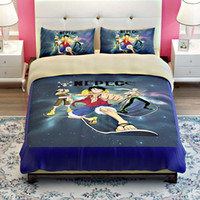 anime pillowcase - Japan Anime ONE PIECE luffy bedding bed linen set cotton twin full queen king comforter sets with duvet cover pillowcases