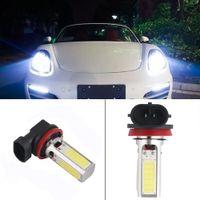 Wholesale 2016 new X H11 H8 LED COB DRL Car DRL SMD Daytime Running Head Bulb Light Lamp V Fog lamp auto Parking Led Light Car Styling
