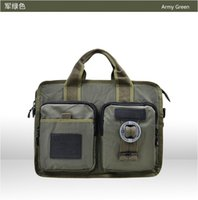 Wholesale men s handbag brief case file package waterproof oxford put on a4 magzine Ipad computer two color black army green