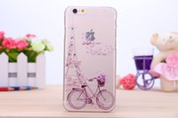 bicycle love - Flower Rose Butterfly Sexy Lady Girl Bling Diamond Hard Plastic Case Eiffel Tower Bicycle Celular Cellphone LOVE Skin For Iphone S Plus