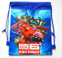 Unisex big lots backpacks - 12PCS Baby Boys Big Hero Nonwoven Drawstring Bags Children s Cartoon Baymax Nonwoven Backpacks School Bag Children Swimming Packs t4r