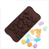 animal molds - silicone mold DIY animal sharp cake baking tools for cakes mould decorating fondant molds chocolate candy moulds de d moldes