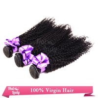 Cheap Hair Weft Weave 100% Brazilian Peruvian Malaysian Indian Virgin Unprocessed Human Hair Extensions Kinky Curly 5A Natural Color 1pcs lot