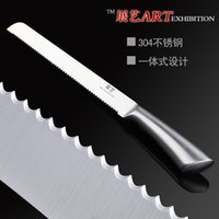 accord steel - exhibition of high end stainless steel baking cake bread knife serrated saw blade kitchen knife according to special cooking