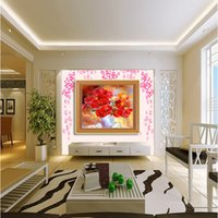 Wholesale Hot Sale Poppies DIY diamond embroidery painting flowers in vases full mosaic crafts d cross stitch kits needlework home decor