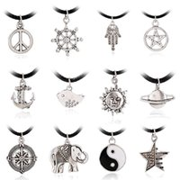 anchor chain manufacturers - New Statement Necklace European And American Fashion Simple Anchor Peace Sign Necklace Accessories Manufacturers Selling Nz0386