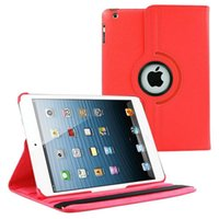 Wholesale 360 Rotating Matt Leather On Off Case Cover For Apple iPad iPad Air iPad Mini