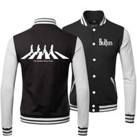beatles jacket - heavy metal THE BEATLES BAND ABBEY ROAD SPRING FALL WINTER Classic Jacket lover s Sweatshirt baseball uniform for MAN AND WOMAN