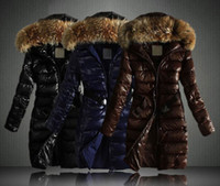 Wholesale colour fashion women winter coat Raccoon big Fur collar fashion slim Down Jackets coat women clothing N158