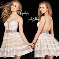 ball gown silhouette - Cocktail Dress Sheer Sweetheart Illusion Features Glamorous Stones Over The Bodice Skirt Waistband Cinches Silhouette A line Party Dress