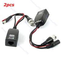 Wholesale E79 PVD UTP CAT5 BNC Male To RJ45 Converter Power Data CCTV Video Balun Transceiver