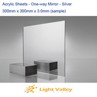 plexiglass sheets - 300mm x mm x mm Acrylic Plexiglass Sheets Silver Mirror