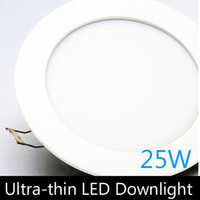 Wholesale Ultra thin design W LED ceiling recessed downlight round panel light mm hole pc