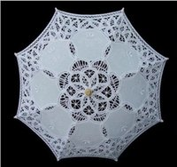 parasols - Lace Parasols for Children White Ivory Wedding Umbrella New Sun Umbrella Photography props Diameter cm length Beautiful Bridal Accessories