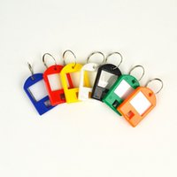 Wholesale Colored plastic key card number plate key chain hotel brand category of digital card key card candy color