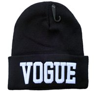 beanie hat manufacturers - Tide custom beanie hat knitted hat flanging cap VOGUE Beanies cold cap hat manufacturers