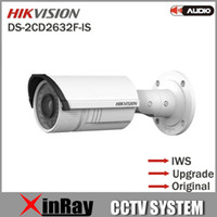 ip camera network camera - Multi Language Original Hikvision DS CD2632F IS MP Full HD Vari focal IR IP Bullet Camera POE Power Network IP66 CCTV Camera IWS V5