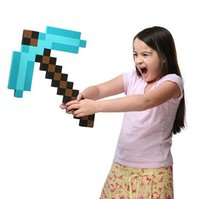 Wholesale BBA3347 KID Minecraft sword Figure toy Minecraft Foam Sword Piackaxe AXE Hoe Shovel Sword Pickaxe BABY Minecraft Foam Sword Pickaxe