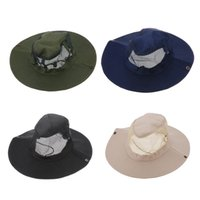 green army men - New Outdoor Fishing Camping Hiking Sun Cap Round Rim Brim Men Women Bucket Hat Army Green Black Dark Blue Beige H12299