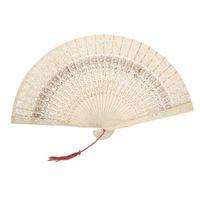 Wholesale x Folding Wooden Carved Sunflower Print Fragrant Hand Fan order lt no track