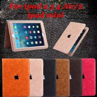 apple mini books - Deluxe Fashion Hottest Business Style Leather Case For iPad Air Mini Book Cover
