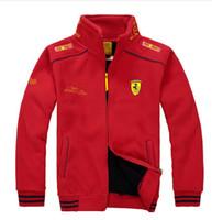 Wholesale HOT New Spring Autumn Winter Fleece Jackets Men F1 Jackets Long Sleeve Zipper Sport Coats Outdoors Men Jackets