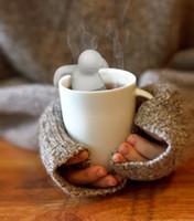 al por mayor al por mayor de la hoja de té-Venta al por mayor 500pcs / lot Moda Mr Tea Infuser Loose Leaf Strainer té taza de bolsa Mug Spice Fred (paquete de bolsa OPP) LPPP