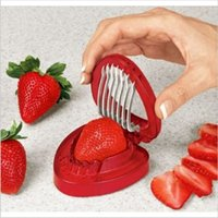 Wholesale Sample order Strawberry slicer new Kitchen gadgets Creative fruit slicer STAINLESS STEEL BLADE kitchen supplies Y30194