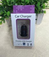 Wholesale 30pcs V A Mini USB Car Charger Adapter Cigarette Lighter Suitable For iPhone S iPad Sumsang Galaxy S5 S4 Note huawei