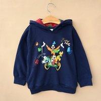 Cheap Winter Miki Minnie Mouse Autumn Children Boys Girls Hoodies Kids Clothing 2014 Long Sleeve Sweatshirts Childs Donald Duck Cartoon Tops H1849