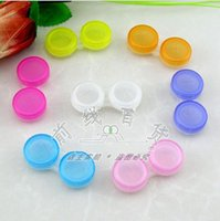 Wholesale 2015 new Pairs Contact Lens Case Colorful Dual Box Double Case Lens Soaking Case Candy color contact lenses box BBB3215