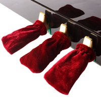 Wholesale 3pcs set Piano Sustain Pedal Cover Pleuche Blue Black Green Red Coffee Purple for Choosing
