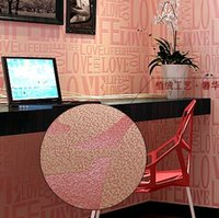 art deco sofa - 6 color European Contemporary Art Deco Flocking Letter Wallpaper m size wall paper Roll For TV Sofa Background R145