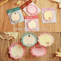 Wholesale Cute Flower Stationery Sticker Post It Bookmarker Memo Pad Flags Sticky Notes WbtoF JIA117