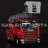 Cheap DIECAST METAL 1:43 MODEL TRUCK TOYS SCANIA FIRE ENGINE TRUCK PUMPER REPLICA