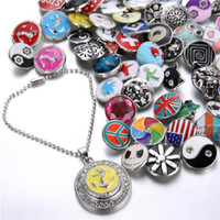 Wholesale HOT NOOSA chunks pattern button Snaps Jewelry Accessories mm interchangeable jewelry Inlaid For Button Ring Necklace Pendant Bracelet