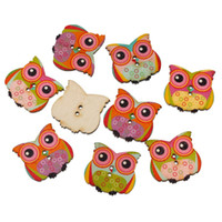 sewing buttons - Wood Sewing Button Scrapbooking Owl Halloween At Random Two Holes mm x mm new
