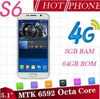 unlocked cell phones wifi - Real G LTE HDC S6 phone MTK6592 Octa core s6 mobile Lollipop G Ram G Rom quad g9200 MTK6735 g unlocked cell phones