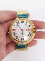 De calidad superior Nuevo Lujo Oro ver ETA-2824 Ver Movimiento Automático Diamond Bisel 42mm hombres relojes de pulsera de moda El mejor regalo