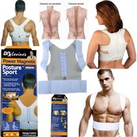 Wholesale Magnetic Posture Supporter Back Belt Band Pain Brace Shoulder Sport Safety For Health With Logo Packing