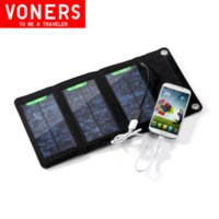 Cheap Travel Portable 5W Folding Solar Panel waterproof For mobile Phone & Camera Solar Cell Solar Charger Placa Solar Free Shipping
