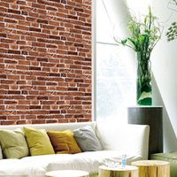 Wholesale 50CM CM brick patterned wallpaper wall stone shape PCV wallpaper Kitchen TV backdrop Wall stickers background Home mural art sticker